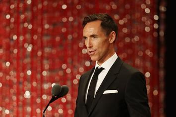 Steve Nash Gives Fans Buckets While Hooping In A Suit: Watch