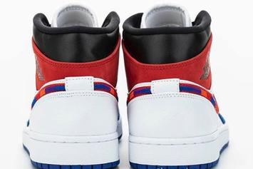 Air Jordan 1 Mid Appears With Multi-Color Swooshes: Detailed First Look