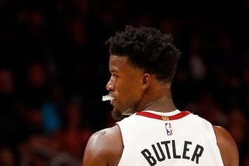 Jimmy Butler Expertly Dismisses Teammates Trying To Crash His Interview
