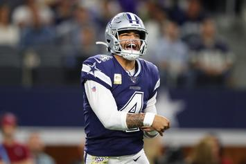 Dak Prescott's Hip-Jiggling Pre-Game Warm-up Had Twitter In An Uproar