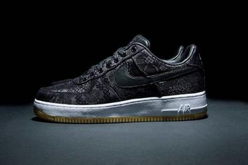 "Clot x Fragment x Nike Air Force 1 Low Revealed In ""Black Silk"" Colorway"