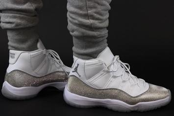 "Air Jordan 11 ""Metallic Silver"" Releasing This Month: On-Foot Photos"