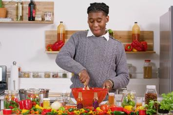 "Lil West Is The Host Of His Own Spicy Cooking Show In ""Hot Sauce"" Video"