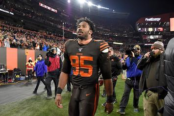 Browns' Myles Garrett Issues Statement Following Lengthy Suspension