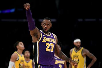 Lebron Throws Down Monstrous Dunk Against The Kings