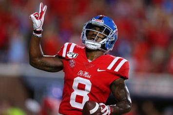 "Ole Miss WR Cost His Team The Game By ""Urinating Dog"" Celebration: Watch"