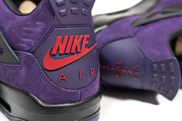 "Travis Scott's Rare ""Purple Dynasty"" Air Jordan 4 Surfaces: Detailed Look"