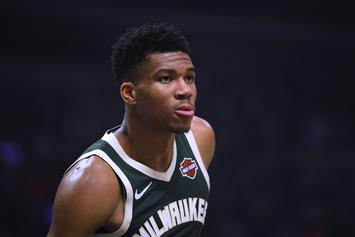 Giannis Antetokounmpo Gets Intimate With Himself During Kiss Cam: Watch