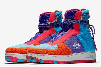 Nike Air Force 1 Rebel XX Gets Dressed In Colorful Sherpa: Photos