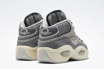 Allen Iverson's Reebok Question Receives Grey Suede Makeover: Release Info
