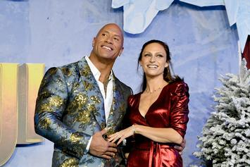 "Dwayne Johnson & His Wife Add Some Sparkle to ""Jumanji: The Next Level"" Premiere"