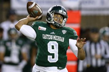 Eastern Michigan QB Hits Referee In The Face, Gets Ejected: Watch