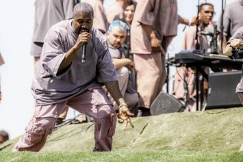 "Kanye West Disavows L.A. Lifestyle & ""Man-Made Ideals"" At Sunday Service"
