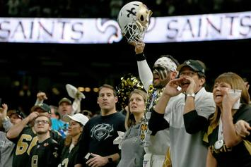 Saints Fans Angrily Throw Debris At Refs Following Wild Card Loss