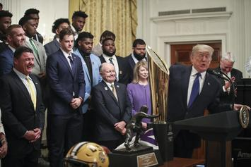 Donald Trump Likens LSU Tigers To The Military, Hilarity Ensues