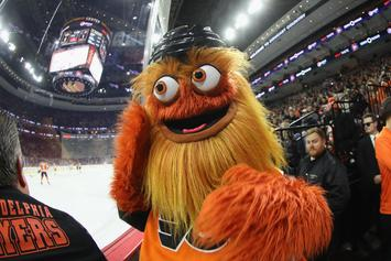 Infamous Flyers Mascot, Gritty, Accused Of Punching Young Fan