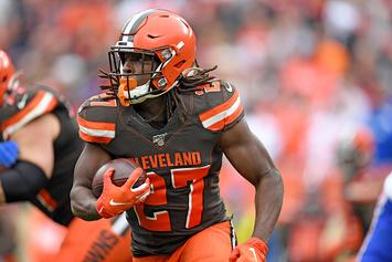 Browns' Kareem Hunt Cited For Speeding, Weed Found In Car: Report