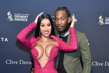 Offset Fixing Cardi B's Hair On The Pre-Grammy Gala Red Carpet Is Amazing: Watch