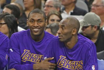 Metta World Peace Toasts To Kobe Bryant At 8:24 P.M., Buys Restaurant Round Of Drinks