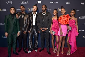 Diddy Proudly Poses With His Beautiful Growing Family Post Grammy Weekend
