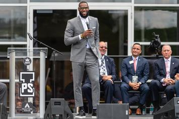 "LeBron James Gifts Free College Tuition To ""I Promise"" Students: Watch"