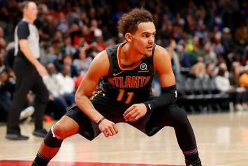 Trae Young Cheekily Explains Why He Gave Quavo His 50-Point Jersey