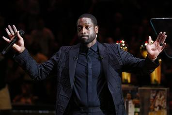 Dwyane Wade Reflects On Kobe Bryant During Miami Heat Jersey Retirement