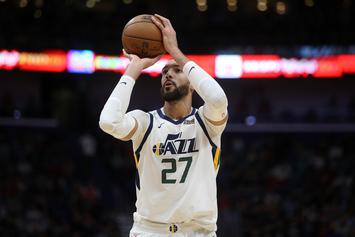 Rudy Gobert Goes Off On Officials After Avoiding Nasty Elbow