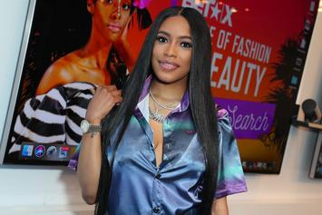 Meek Mill's GF Milan Harris Shows Off Baby Bump In Bikini