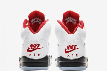 "Air Jordan 5 ""Fire Red"" Returns In OG Form: Official Images"