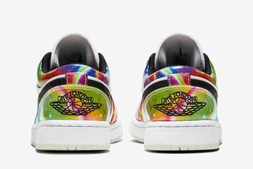 "Air Jordan 1 Low Receives Alternate ""Galaxy"" Colorway: Photos"