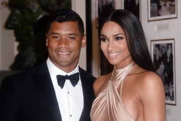 Ciara Teased By Russell Wilson For Standing On Patio Chairs To Find Perfect Lighting