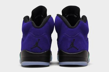 "Air Jordan 5 ""Alternate Grape"" Official Images Revealed"