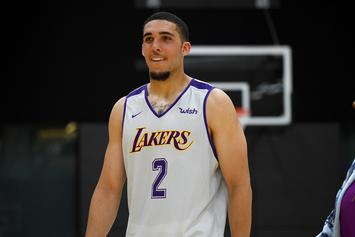 LiAngelo Ball Shows Off Massive Back Tattoo