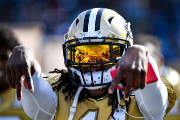 Alvin Kamara Attends NASCAR Race To Support Bubba Wallace