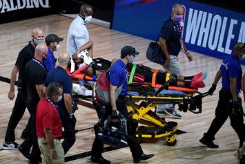 Derrick Jones Jr Taken Off On Stretcher After Scary Collision
