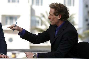 Skip Bayless Throws Clippers Jersey In The Trash In Fit Of Rage