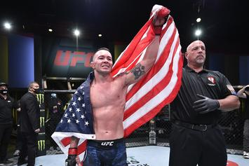 Colby Covington Takes Call From Donald Trump During Post Fight Interview