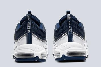 Nike Air Max 97 Dropping In Navy & Silver Colorway: Photos