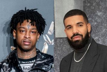 21 Savage Rocks Iced Out OVO Chain Reportedly Gifted By Drake