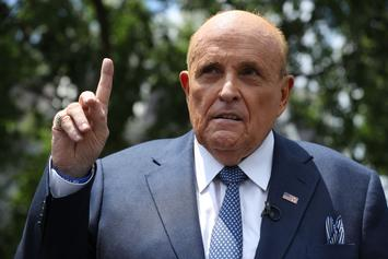 "Rudy Giuliani Adamantly Denies Groping Himself During ""Borat"" Filming"