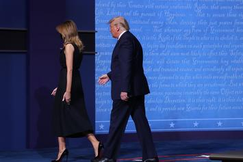 Melania Goes Viral Again For Pulling Hand Away From President Trump After Final Debate