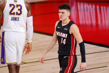 "Tyler Herro Fully Embraces His NBA Finals ""Snarl"" Meme"