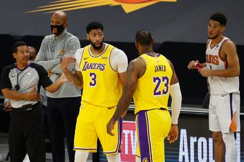 Anthony Davis Caught Clipping Toenails On Bench During Lakers' Game