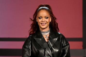 Rihanna Shows Cleavage In Sexy Leather Outfit For A$AP Rocky Date