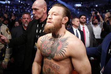 Conor McGregor Spotted Walking With Crutch After Poirier Loss