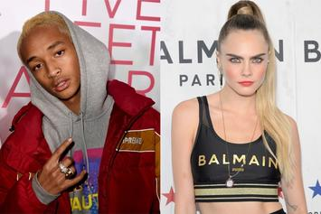 Cara Delevingne Kisses Jaden Smith, Gives Her Dozens Of Roses On Valentine's Day