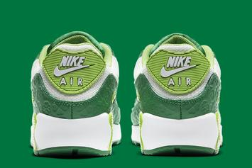 """Nike Air Max 90 """"St. Patrick's Day"""" Gets Covered In Green: Photos"""
