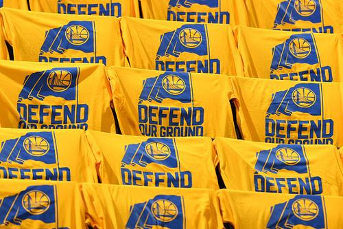 "6959f4cf61b Cleveland Cavaliers  Twitter Calls Out Warriors For Using ""Defend Our Ground""  Slogan"