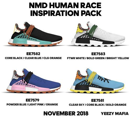 7a5922c39772b Pharrell x Adidas NMD Hu  New Colorways Coming This Fall